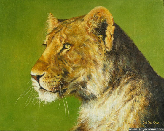 A Lioness. I love the idea of a lioness on the lookout. Now, what is she looking at?