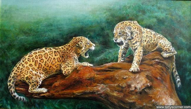 Jaguars Fighting